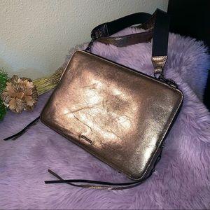 Rebecca Minkoff metallic bronze iPad/laptop bag